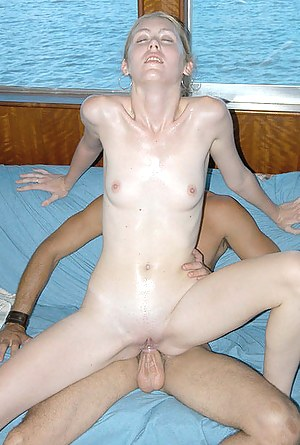 Shaved twat and tight butt hole of a splendid girl nailed with an enormous dick on a rich guy's big boat in the middle of the sea.
