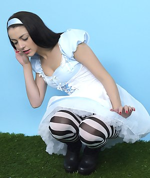 Gorgeous Bryoni-Kate Williams in an sexy Alice in Wonderland adventure.