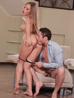Stunner Milla wraps pussy lips around his firm cock.