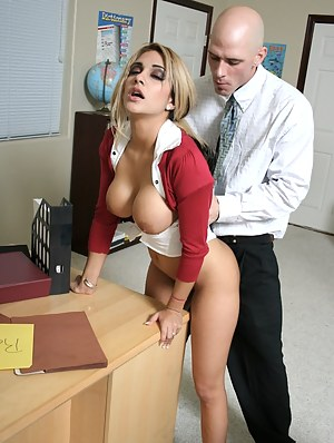 She obviously has trouble paying attention, this blonde slut doesn't wanna study at all. Watch her teacher fuck some knowledge into her.