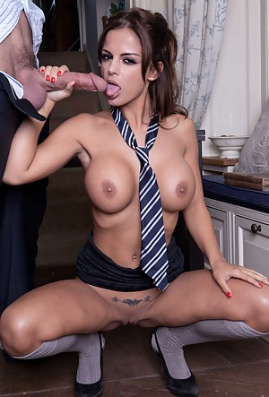 That guy was dead-set on teaching her about stuff, but sadly she decided to fuck him and let him cover her pretty face with jizz.