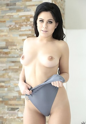 Lustful babe having dark hair is getting her ass hole penetrated with strong penis. She is also happy to demonstrate masturbation skills.
