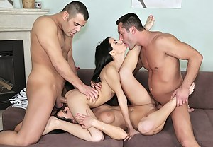 All four lovers here are great porn stars having good experience at wild sex. They are demonstrating all the best to make you feel high.