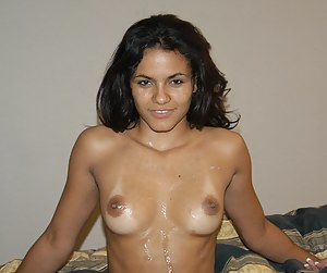 Reality babe demonstrates her tanned body in a wonderful skirt before stripping it off and having her sweet juicy pussy banged with a big dagger.