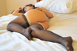 Arianna in stockings heels and lingerie